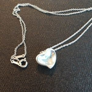 Tiffany Elsa Peretti Closed Heart Necklace